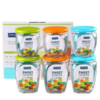 Glasslock 韩国玻璃密封罐储物盒厨房玻璃储物罐IG759零食盒储藏罐保鲜盒6件套