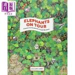 【中商原版】大象的世界旅程 Elephants on Tour 儿童绘本 环球大冒险 动物 好奇心 探险 6岁以上 精