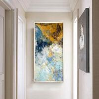 现代简约玄关过道砖石画竖版客厅十字绣抽象壁画砖石画