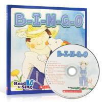 【全店300减100】英文原版绘本 Read & Sing Bingo 学乐出版scholastic 启蒙3-6岁儿童儿