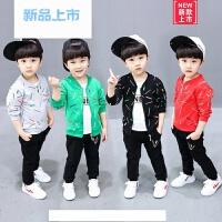 男童婴儿童装三件套装秋季牛仔潮宝宝春秋款女0-1-2-4岁3衣服运动