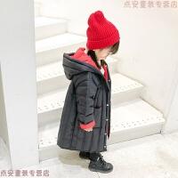 女童羽绒服2018新款韩版洋气白鸭绒保暖儿童外套轻薄款宝宝中长款