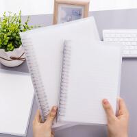 可拆卸活页笔记本文具a5/b5活页夹外壳简约学生记事本网格本