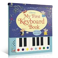 英文原版 My First Keyboard Book 键盘钢琴发声书 9首童谣儿歌曲谱 Usborne 2-3-6岁