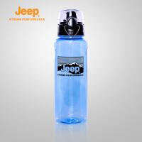 【限时秒杀】Jeep/吉普 户外1L大容量水杯透明太空杯自行车水壶