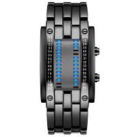 手表男士时尚创意LED学生手表个性情侣表电子表男表