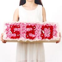 鲜花七彩玫瑰香皂花卡通花束礼玫瑰盒精油花女友情人节生日礼物