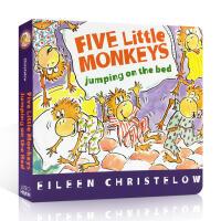 【全店300减100】英文原版绘本 Five Little Monkeys Jumping on the Bed 五只小