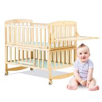 无漆儿童床婴儿床实木宝宝床摇篮床摇床