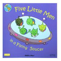 【全店300减100】英文绘本廖彩杏书单Five Little Men in a Flying Saucer大开附CD