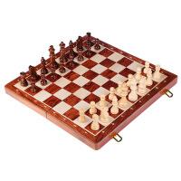 木质国际象棋儿童套装折叠棋盘益智桌面游戏