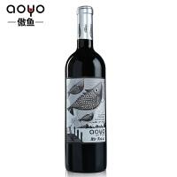 傲鱼AOYO智利原瓶进口红酒 劳尔先生精酿佳美娜半干红葡萄酒2018年750ml*1