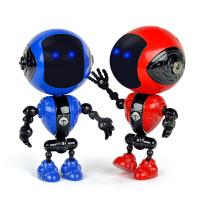 儿童玩具男女孩声光迷你合金触摸感应机器人智能语音对话摆件模型
