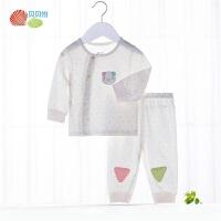 贝贝怡男女宝宝春秋家居服套装新生婴儿衣服卡通印花内穿保暖睡衣