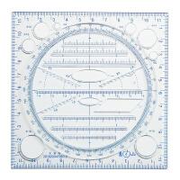 学生文具多功能尺子中学生模板平行手帐尺绘图模板 手工手账绘图尺 考试几何图形尺绘图设计创意画图