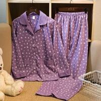 春秋季中老年睡衣女长袖 妈妈老人婆婆款加肥加大码家居服套装