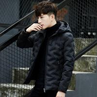 男士羽绒服冬季2018新款韩版潮流帅气修身短款男工装冬天加厚外套
