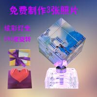 创意礼品水晶魔方毕业照片制作个性照片定制相框创意生日礼物水晶相册摆台