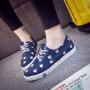 2018秋款小白鞋女卡通款帆布鞋平底板鞋韩版学生布鞋卡通球鞋