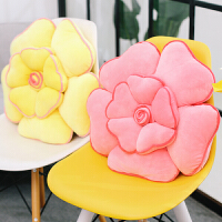 软体花朵枕头沙发抱枕靠垫靠枕床头汽车护腰靠办公室椅子靠背垫子