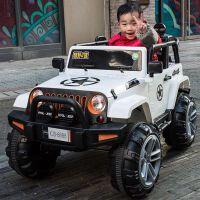 小孩子车子四轮摇摆汽车儿童电动车四轮越野车四驱玩具遥控汽车可坐大人宝宝带摇摆双人车