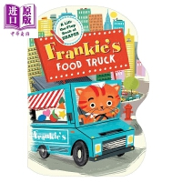 【中商原版】弗兰基的食物货车 Frankie's Food Truck 纸板书 低幼启蒙 亲子绘本 食物 游戏书 3~