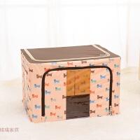 收纳箱牛津布钢架整理箱子透明储物箱无纺布棉被袋百纳箱小号有盖