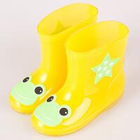 雨鞋 男女童宝宝可爱时尚糖果色加棉保暖雨靴小学生防滑防水胶鞋单色贴图柔软舒适防磨童靴雨鞋雨具