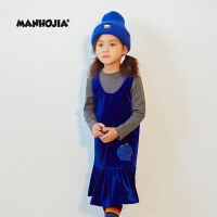 【2件2.5折:135】马拉丁潮牌MHJ漫画家童装女童套装2019秋装儿童裙子2件套潮