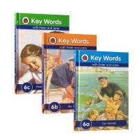 【全店300减100】圣诞节礼物 英文原版key words ladybird第6阶6a6b6c三本套装 自然拼读 4-