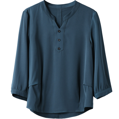 中年2018春装新款打底大码衬衫宽松中老年妈妈长袖上衣
