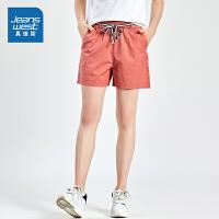[秒杀价:66.3元,年货节限时抢购,仅限1.15-19]真维斯女装 2019夏装新款 休闲全棉斜纹布短裤