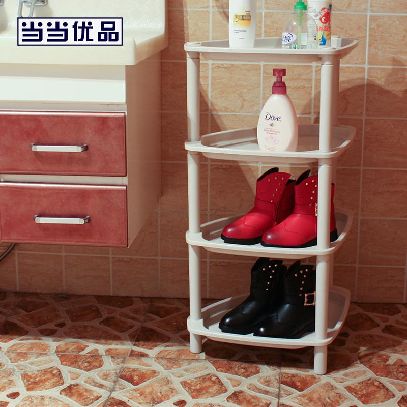 当当优品 四层三脚储物架 卫浴角架 当当自营 置于洗浴间放盆具和洗浴用品;置于厨房放锅具瓶罐蔬果