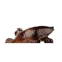 红木手工艺品风水木雕摆件实木质鲤鱼跳龙门家居装饰品摆设