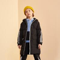 【冬清仓价:229】巴拉巴拉旗下巴帝巴帝童装男童时尚运动连帽羽绒服