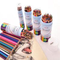 得力水溶性彩铅画笔彩笔彩色铅笔画画套装成人手绘套装12色24色36色48色绘画绘图填色铅笔学生幼儿园美术用品