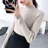 半高领毛衣女韩版秋冬新款加厚打底衫长袖修身纯色套头上衣针织衫