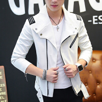 春季薄款皮衣潮流韩版男士皮夹克学生外套青少年上新