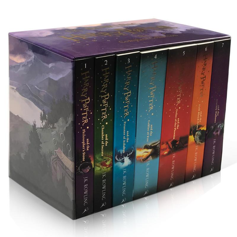 英文原版英版 哈利波特小说 Harry Potter 1-7故事全集礼盒装JK 罗琳 死亡圣器 魔法石 密室 火焰杯 凤凰社 混血王子 阿兹卡班囚徒