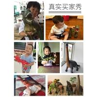 儿童动物3-6岁男孩玩具 大号仿真软胶恐龙玩具霸王龙模型套装