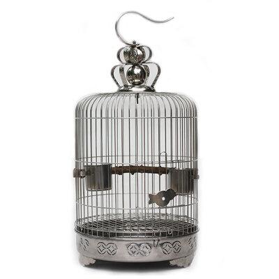不锈钢鸟笼画眉绣眼相思了哥八哥鹩哥虎皮牡丹鹦鹉圆笼子 发货周期:一般在付款后2-90天左右发货,具体发货时间请以与客服协商的时间为准