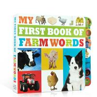 英文原版 My First Book of Farm Words 农场动物植物认知百科普纸板书 词汇学习积累 2-6岁