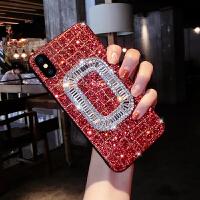 女苹果7plus手机壳防摔全包iphoneX硅胶创意8P6s奢华水钻