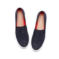 【到手价209元】jm快乐玛丽女鞋夏季欧美平底蕾丝套脚厚底女乐福鞋休闲鞋子82018W