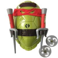 儿童节玩具面具套装忍者神龟龟壳cos道具头罩刀 浅绿