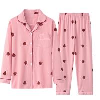 睡衣女士夏长袖纯棉套装薄款两件套月子服韩版产后春秋季家居服冬 自由搭配或联系客服 长袖