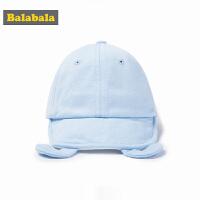 巴拉巴拉男童休闲帽子春装2018新款小童宝宝遮阳鸭舌帽可爱棒球帽