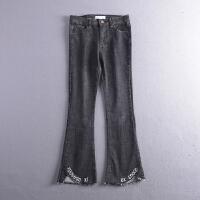 C0FSA23秋冬季韩版新款时尚气质纯色双口袋牛仔休闲裤