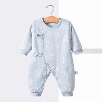 冬季婴儿连体衣秋冬宝宝衣服保暖哈衣爬服新生儿衣服和尚服秋冬新款