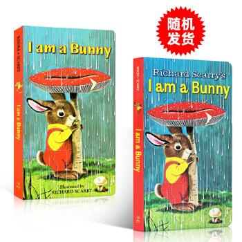 英文原版 i am a bunny 我是一只兔子儿童英文原版绘本richard scarry经典纸板童书绚丽色彩0-3岁幼儿英语廖彩杏书单图画故事书